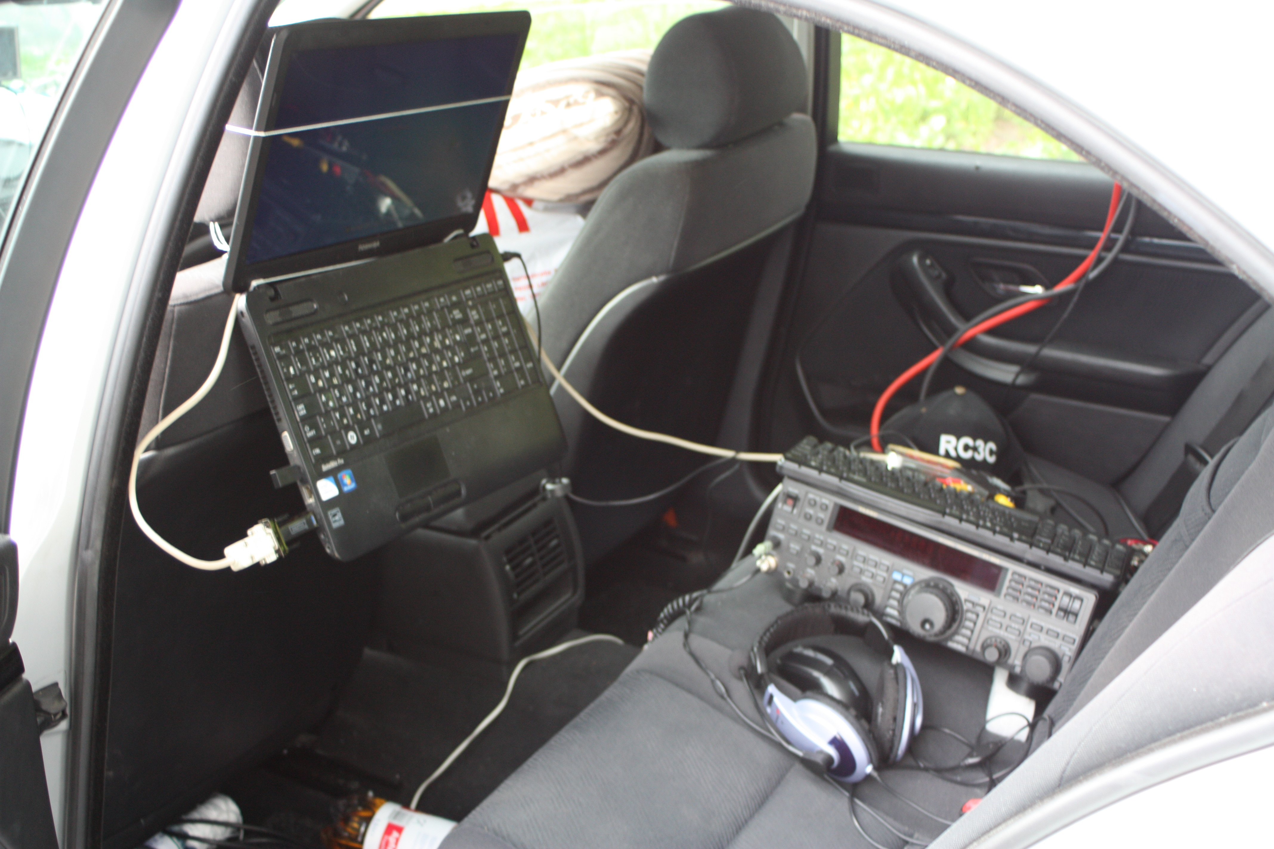 HB0/RC3C mobile shack in Gaflei
